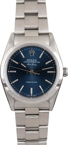 Mens Rolex Air King 14000M Blue Dial