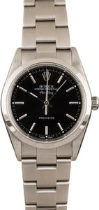 Pre Owned Rolex AirKing 14000M Black Index Dial