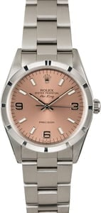 Used Rolex Air-King 14010 Salmon Dial Steel Oyster