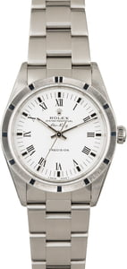 Used Rolex Air King 14010 White Dial