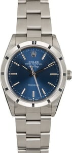 PreOwned Rolex Air-King 14010 Blue Index Dial