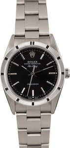 Rolex Air-King 14010 Black Dial Steel Oyster