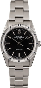 Rolex Steel Air-King 14010 Black Dial