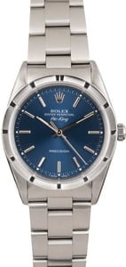 Pre Owned Rolex Air-King 14010 Blue Index Dial