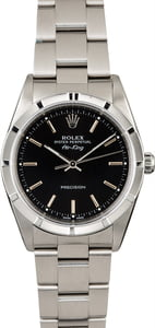 Steel Rolex Air-King 14010M Black Dial