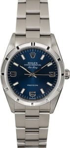 PreOwned Rolex Air-King 14010M Blue Dial