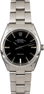 Used Rolex Air-King 5500 Black Dial