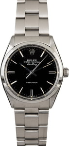 Rolex Air-King 5500 Black Dial with Steel Oyster