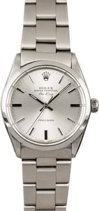 Used Rolex Air-King 5500 Steel Oyster Silver Dial
