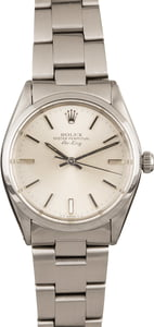 Pre Owned Rolex Air King 5500 Silver Dial