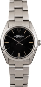 Pre Owned Rolex Air-King 5500 Black Dial
