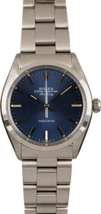 Used Rolex Air-King 5500 Blue Dial