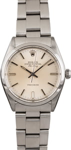 Pre Owned Rolex Air King Oyster 5500 Silver Index Dial