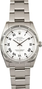 Air-King Rolex 114210 White Dial