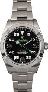 Men's Rolex Air-King 116900BKAO Black Dial