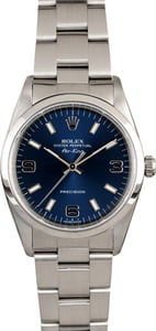 Men's Rolex Air-King 14000 Blue Dial