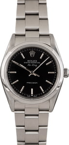 Pre Owned Rolex AirKing 14000 Black Dial