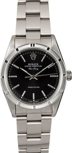 Rolex Air-King 14010M Black 100% Authentic