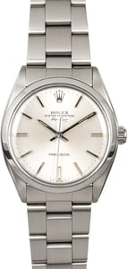 Rolex Air-King 5500 Silver Dial Steel Oyster