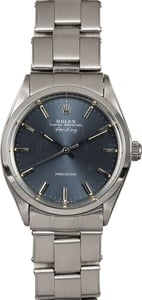 Men's Rolex Air-King 5500 Slate Dial