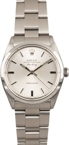 Rolex Air-King 5500 Steel Oyster Silver Dial