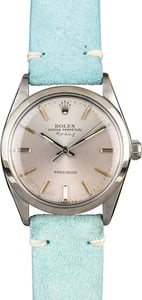 Rolex Air-King 5500 Silver Index