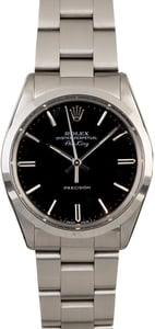 Men's Rolex Air-King 5500 Black Dial