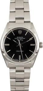 PreOwned Rolex Air-King 5500 Black Dial
