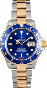 Rolex Blue Bezel Submariner Two-Tone 16613