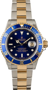 Rolex Submariner 16613T Blue Dial Two Tone