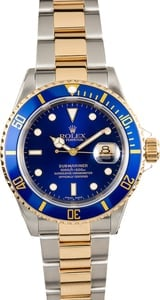 Rolex Blue Submariner 16613 100% Authentic