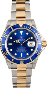 Rolex Blue Submariner 16613 Pre-Owned Certified