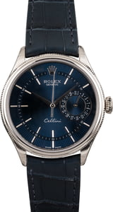 Unworn Rolex Cellini 50519 Blue Guilloche Dial