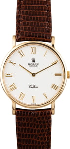 Pre Owned Rolex Cellini 5112 White Roman Dial