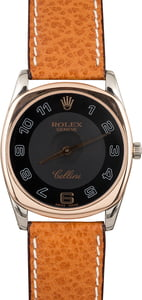 Pre-Owned Rolex Cellini 4233 Black Arabic Dial