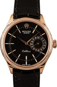 Rolex Cellini 50515 Black Guilloche Dial