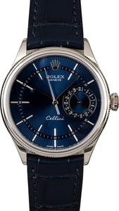 Rolex Cellini 50519 Blue Guilloche Dial