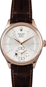 Rolex Cellini 50525 Everose with Silver Guilloche Dial
