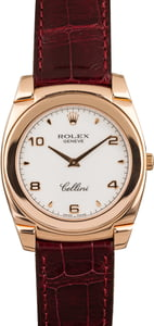 Pre-Owned Rolex 18k Rose Gold Cellini Cestello 5330