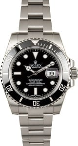Men's Black Rolex Ceramic Submariner 116610