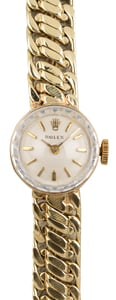Vintage Rolex Cocktail Watch 14k Yellow Gold 15MM T