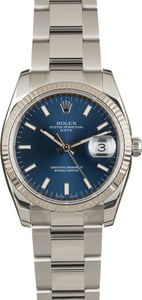 Rolex Date 115234 Blue Index Dial