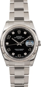 Used Rolex Date 115234 Diamonds
