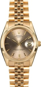 18k Yellow Gold Rolex Vintage Date 1500