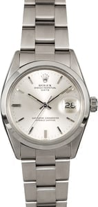 Rolex Oyster Perpetual Date 1500 Silver Index Dial