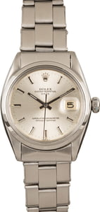 Pre-Owned Rolex Date 1500 Silver Dial