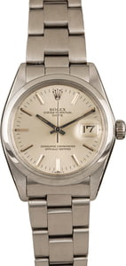 Vintage Rolex Date 1500 Stainless Steel Silver Dial
