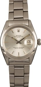 Pre-Owned Rolex Date 1500 Silver Dial Watch
