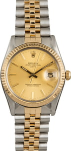 Rolex Date 15003 Champagne Index Dial