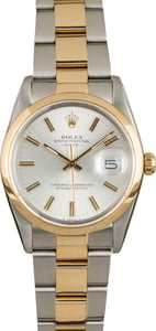 PreOwned Rolex Date 15003 Two-Tone Oyster